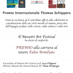 PREMIO THOMAS SCHIPPER A FABIO ARMILIATO (Spoleto 27-9-2021) – 2021